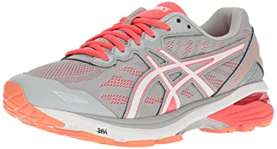 ASICS Women's GT-1000 5 Running Shoe, Mid Grey/White/Diva Pink