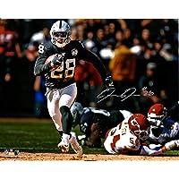 "$111 » Josh Jacobs Las Vegas Raiders Autographed 16"" x 20"" Running Photograph - Fanatics Authentic Certified"