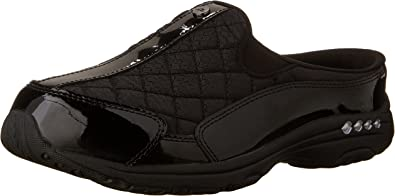 Easy Spirit Womens Shoes Traveltime Leather Closed Toe Mules