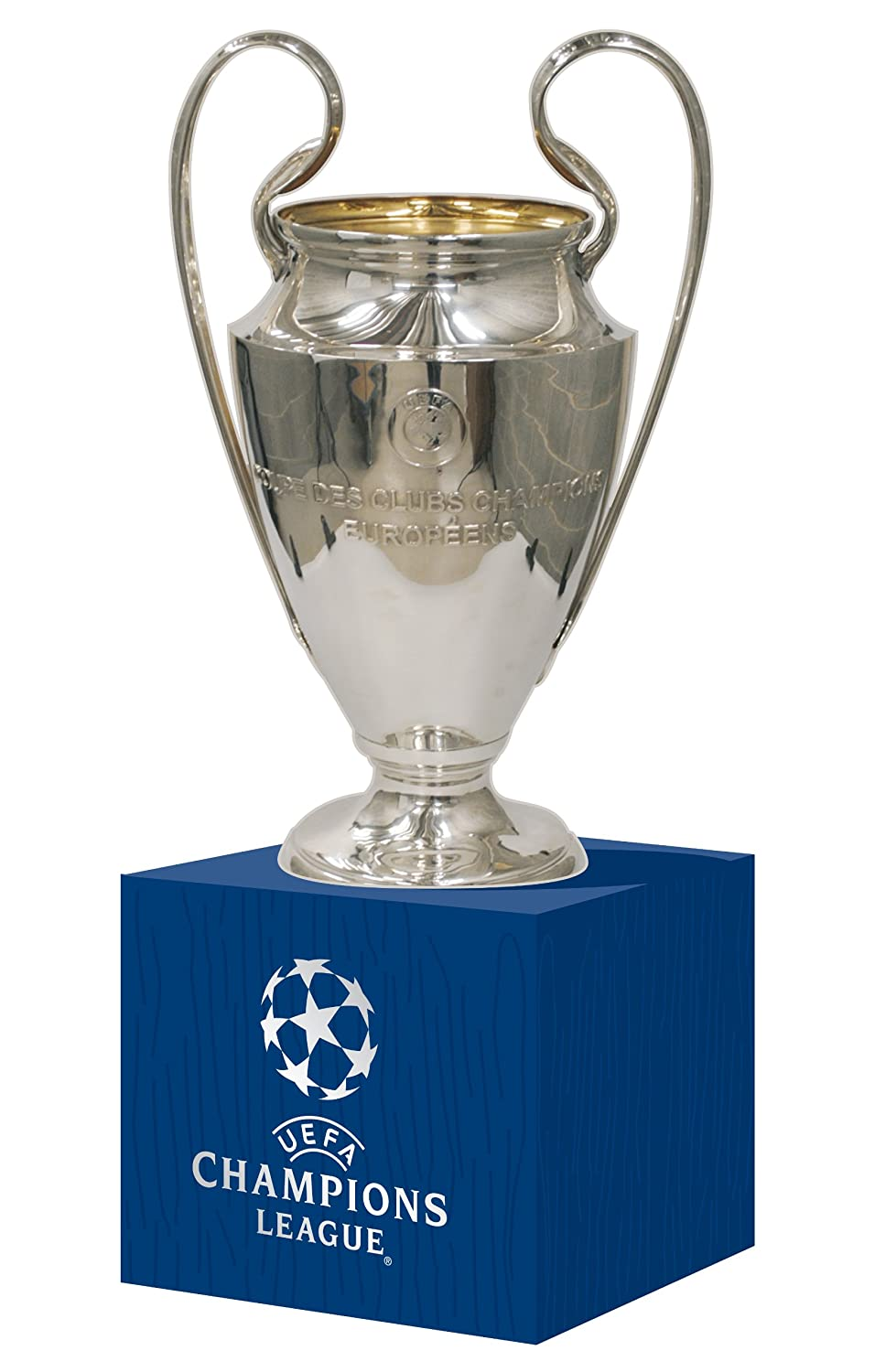 UEFA UEFA-CL-70-HP Champions League Replica Trophy 70 mm on Wooden Base Silver