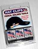 HAT CLIP PENCIL HOLDER TOOLS that can hold golf or carpenter pencils, Sharpie markers and more! 3 PACK BLACK