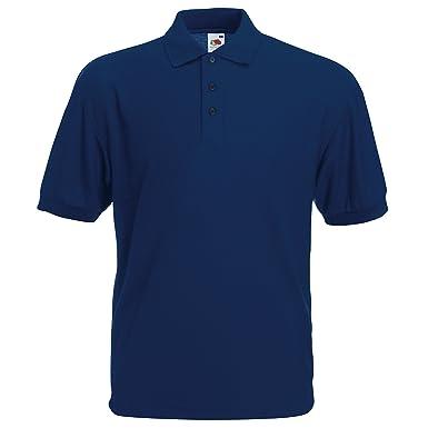 46f33c8cb Fruit of the Loom Short-sleeved Polo Shirt  Amazon.co.uk  Clothing