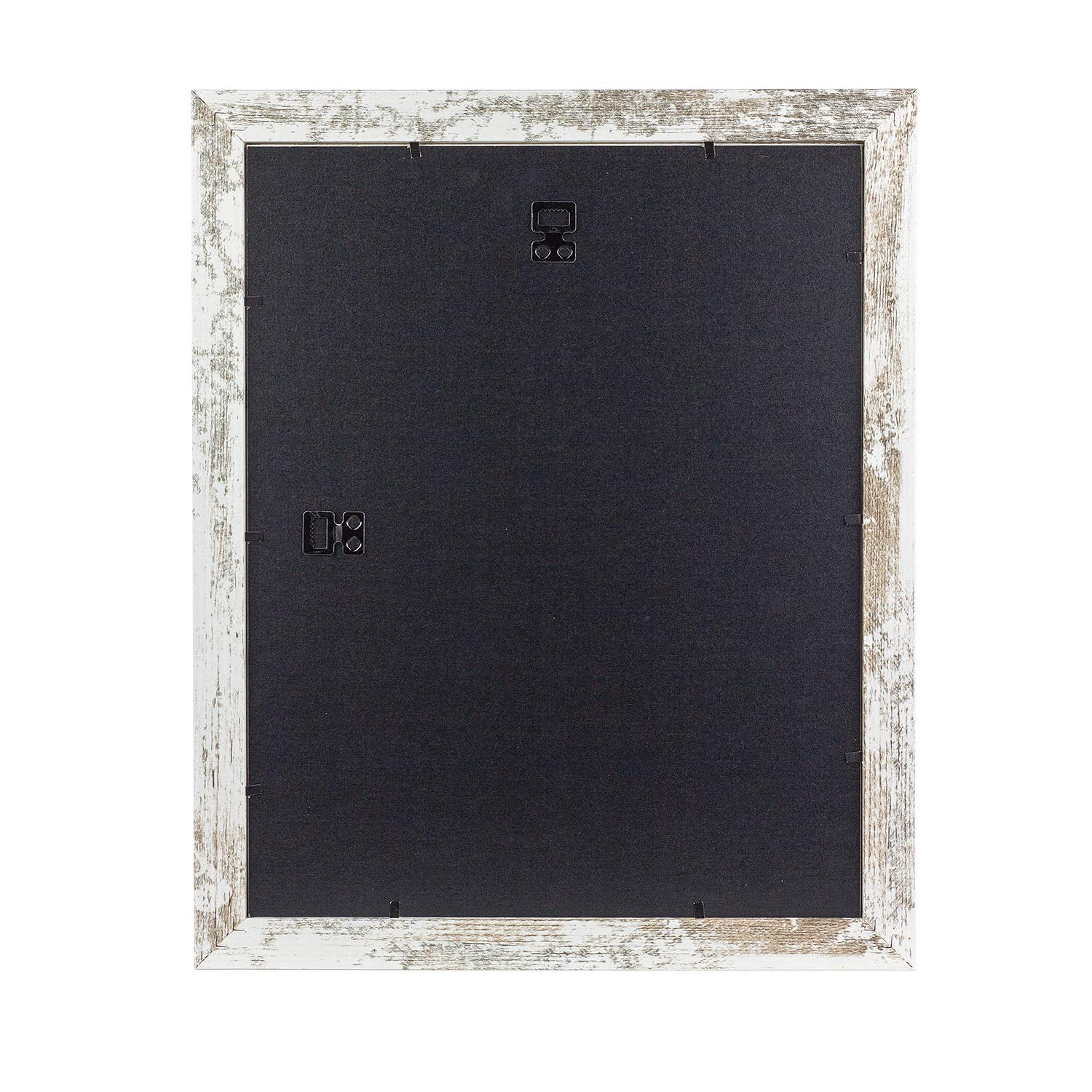 Home&Me 11x14 Picture Frame Rotten White 2 Pack - Made to Display Pictures 8x10 with Mat or 11x14 Without Mat - Wide Molding - Wall Mounting Material Included by Home&Me (Image #6)