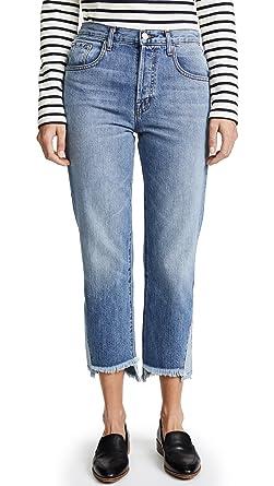 J Brand Woman Cropped Distressed Mid-rise Bootcut Jeans Mid Denim Size 32 J Brand cKBj5