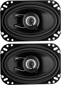 Planet Audio TRQ462 4 x 6 Inch Car Speakers - 200 Watts of Power Per Pair, 100 Watts Each, Full Range, 2 Way, Sold in Pairs
