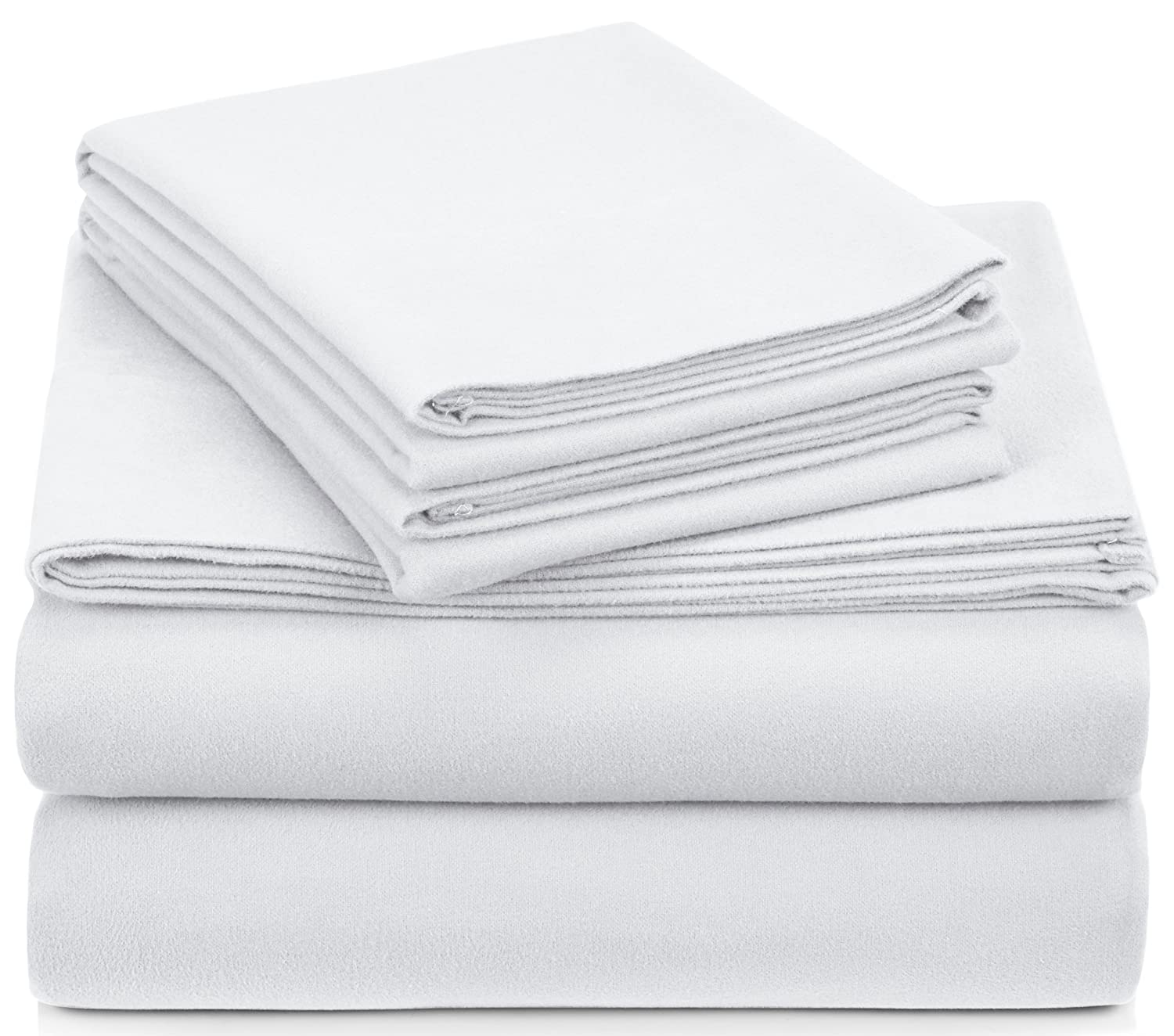 Pinzon Heavyweight Flannel Sheet Set - Queen, White