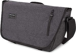 SWISSGEAR Multi-Functional 13-inch Laptop Messenger Bag   Travel, Work, School   Men's and Women's - Heather Gray