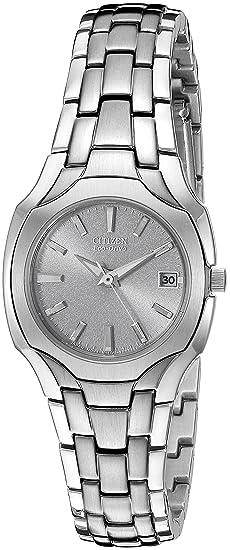 Citizen EW1250-54A - Reloj para mujeres, correa de acero inoxidable color plateado