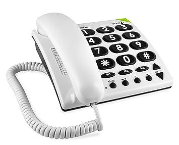 Doro Phone Easy 311c téléphone fixe filaire Blanc (compatible prises  allemandes) bdb7a4d716ae