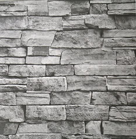 Brick Stone Contact Wallpaper Self Adhesive Paper Roll Prepasted Home Decor