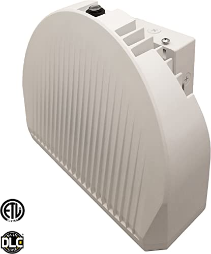 LED 72W Wall Pack Light, 350-400W HPS HID Replacement, 4000K, 5400 Lumens, Built-in Photocell Commercial and Industrial Outdoor Lighting, IP65 Waterproof – ETL DLC