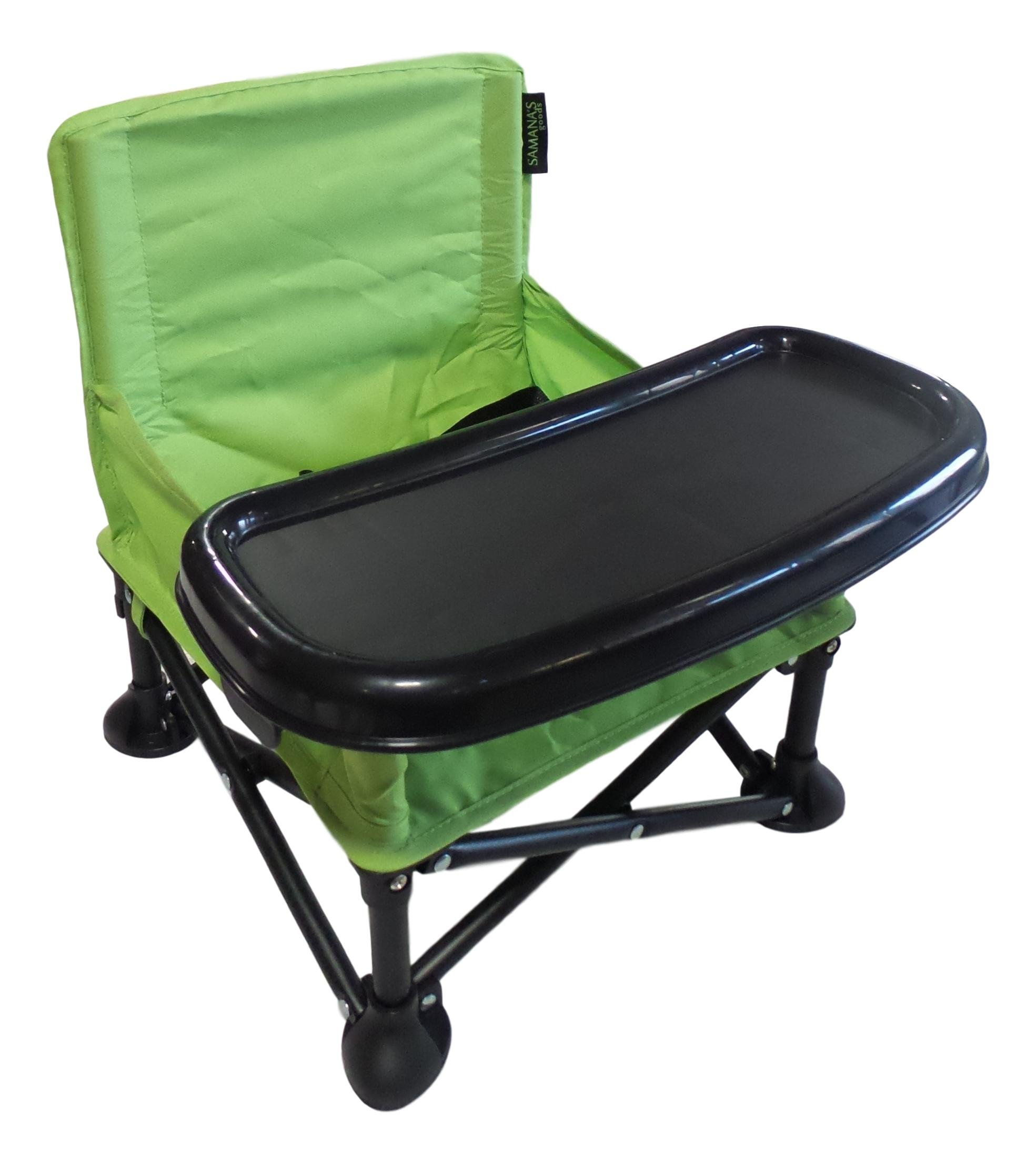 Portable Baby Booster Seat Folding Baby Chair with Tray and Carrying Bag Green  sc 1 st  eBay & Green Portable Baby Booster Seat Folding Baby Chair w/ Tray and ...
