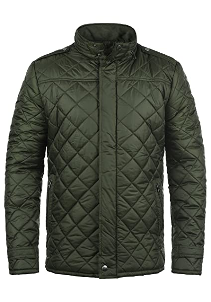 86dfe0b6de Solid Safi Men s Quilted Jacket Puffer Jacket Padded Jacket with Funnel  Neck