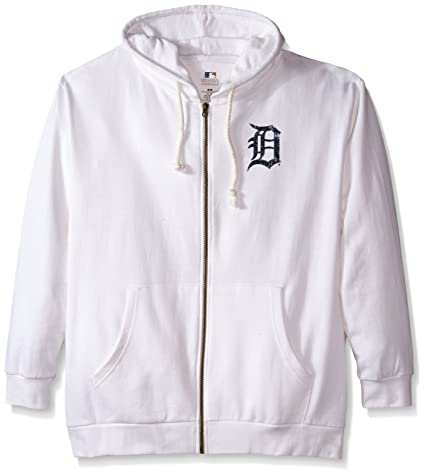 best service 20508 ce213 MLB Detroit Tigers Women's Plus Size Zip Hood with Logo, 2X, White