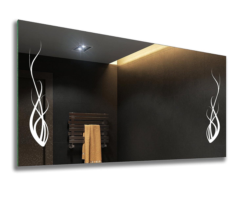 FORAM Badspiegel mit LED Beleuchtung - Nach Maß - Beleuchtet Badezimmerspiegel Kalt Warm Weiß A++ L51