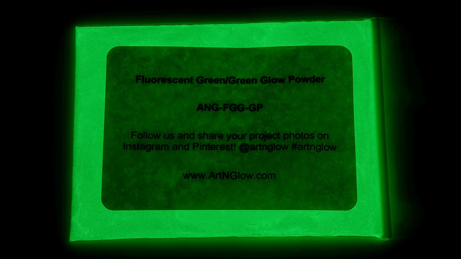 - 10+ Colors Available Fluorescent Green 60g 2 Ounces Art N Glow Glow In The Dark Pigment Powder
