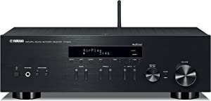Yamaha R-N303BL Stereo Receiver with Wi-Fi Bluetooth & Phono Black, Works with Alexa with 16-Gauge Speaker Wire - 100 Feet and Banana Plugs - 6 pairs