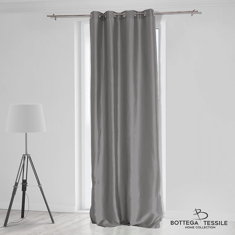Tenda per Interni ad Occhielli Mod. FABIANA, Colore Bordeaux - Mis. 140 x 290 cm, Tinta Unita - Oscurante B071D58D52 BOTTEGA TESSILE