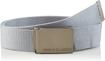 Urban Classics Unisex bälte för män och kvinnor canvasbälte, längd 120 cm, höjd 3,7 cm, robust tyg, stabilt spänne
