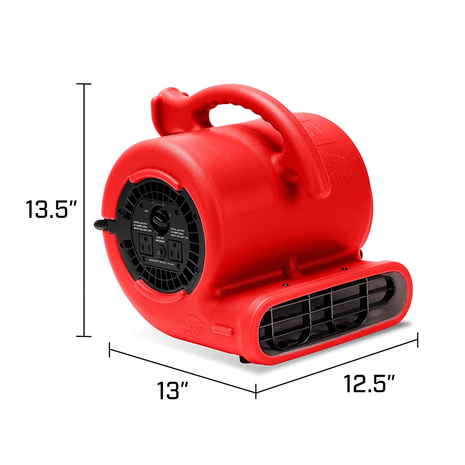 Amazon com: B-Air VP-25 1/4 HP 900 CFM Air Mover for Water