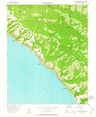Amazon com: California Maps - 1956 Partington Ridge, CA USGS