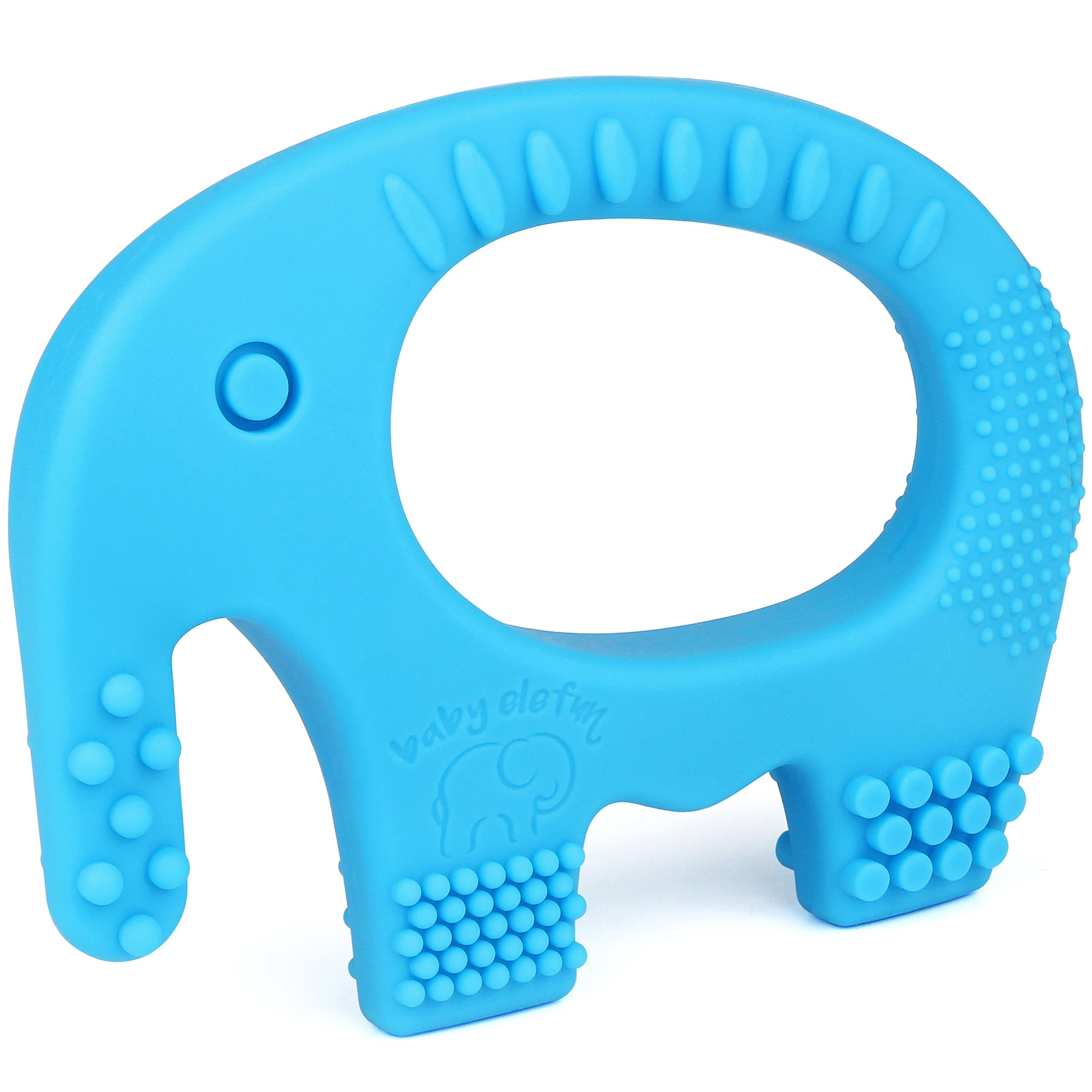 Amazon 6 month old baby toys adorable teething octopus baby teething toys adorable blue silicone elephant teether bpa free best for girl or negle Image collections