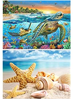 12X18inch//30X45CM Fipart 5D DIY Diamond Painting Cross Stitch Craft Kit Wall Stickers for Living Room Decoration starfish