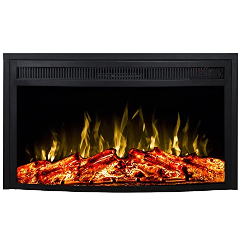 Amazon.com: Moda Flame Elwood 23 inch Curved ventless ...