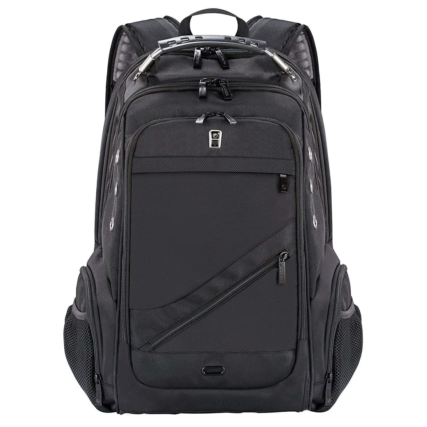 Laptop Backpack, Business Anti-Theft Travel Backpack with USB Charging Headphone Port, Water Resistant Large Compartment College School Computer Bag for Men and Women for 15.6 Inch Laptop and Notebook