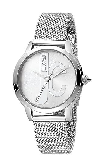 Just Cavalli Reloj Analógico para Mujer de Cuarzo con Correa en Acero Inoxidable JC1L050M0065: Amazon.es: Relojes
