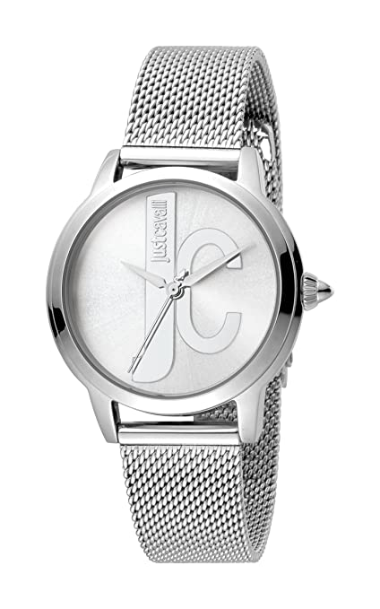 Amazon.com: Just Cavalli Womens JC1L050M0065 JC set Silver Dial with Silver Stainless-Steel Mesh Band Watch.: Watches