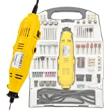 TecTake® Mini lijadora 130 W conjunto de 243 partes incl. maletín