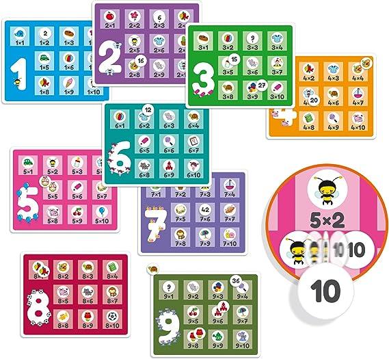 Diset- Juguete educativos Tablas De Multiplicar, Multicolor (68957): Amazon.es: Juguetes y juegos
