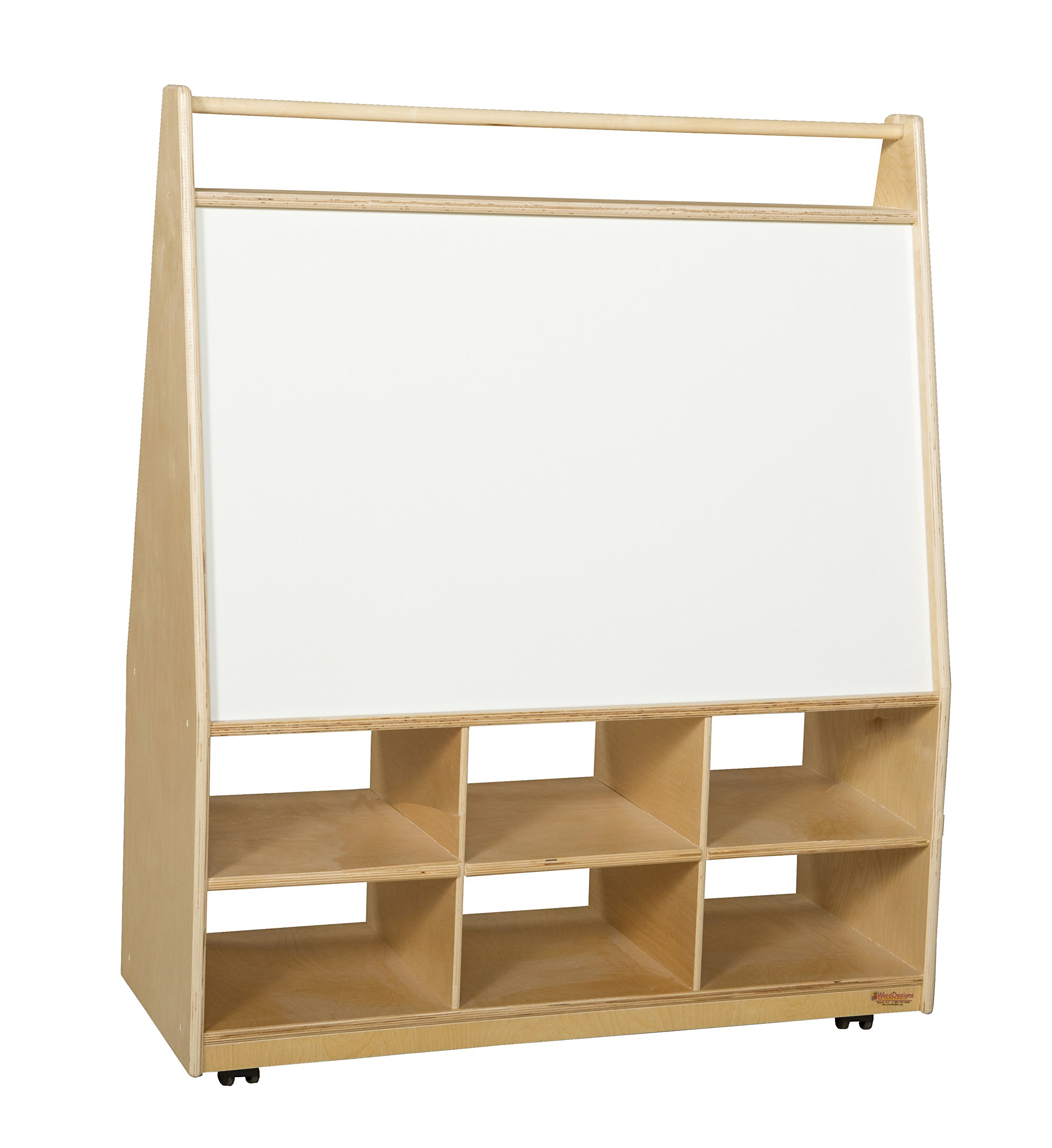 Wood Designs 990321 Mobile LITERACY Display, 44'' Height, 36'' Width, 15'' Length