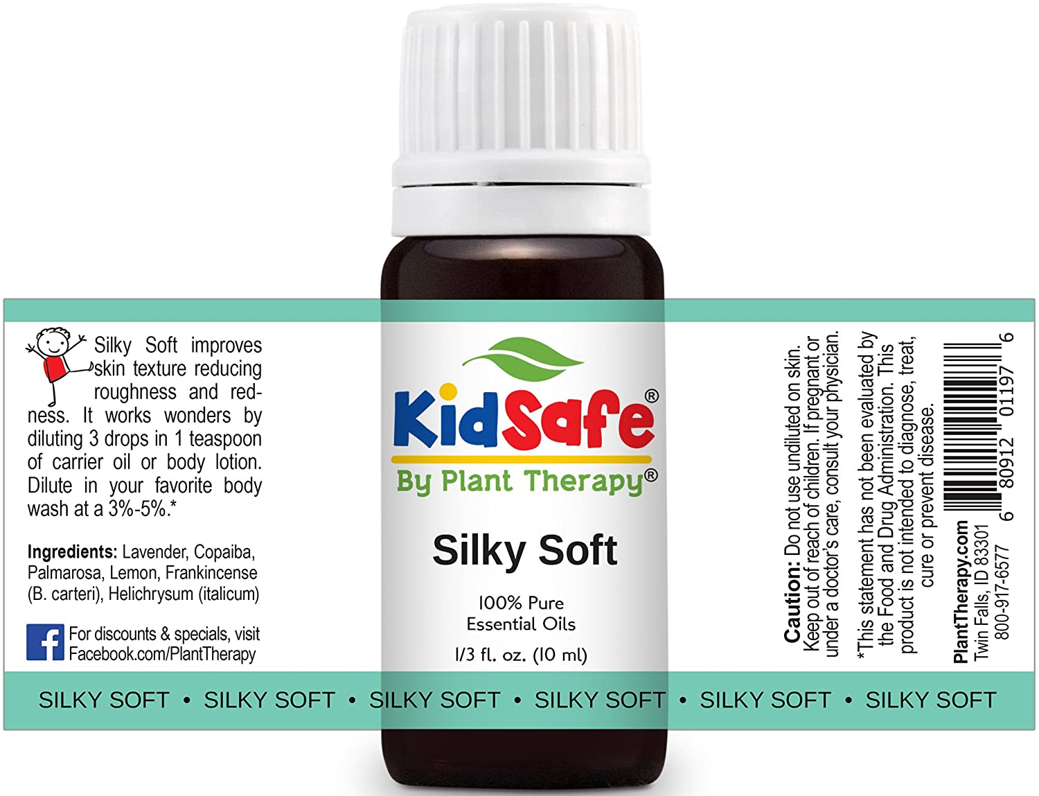 Plant Therapy KidSafe Silky Soft Synergy Essential Oil 30 mL (1 oz) 100% Pure, Undiluted, Therapeutic Grade