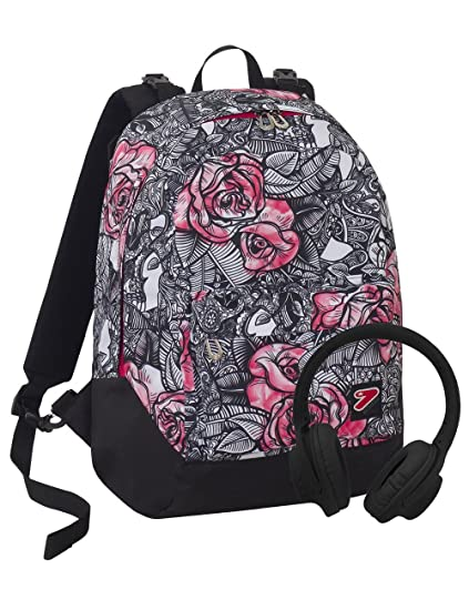 23e138cf39 Zaino SEVEN THE DOUBLE - ROUGE - Nero Rosa - cuffie stereo Soft Touch! 2  zaini in 1 REVERSIBILE: Amazon.it: Giochi e giocattoli