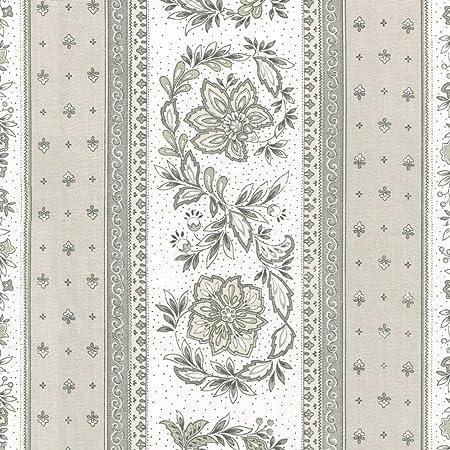 Precioso Rayas Gris En Tela Blanca 100/% algodón 160cm de ancho
