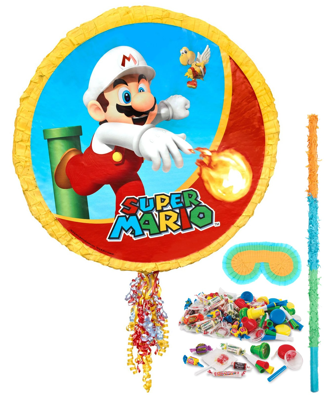 BirthdayExpress Super Mario Party Supplies - Pinata Kit