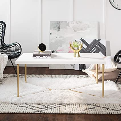 Overstock White Coffee Table.Amazon Com Overstock 42 Modern Y Base Coffee Table 42 X 22 X 18h