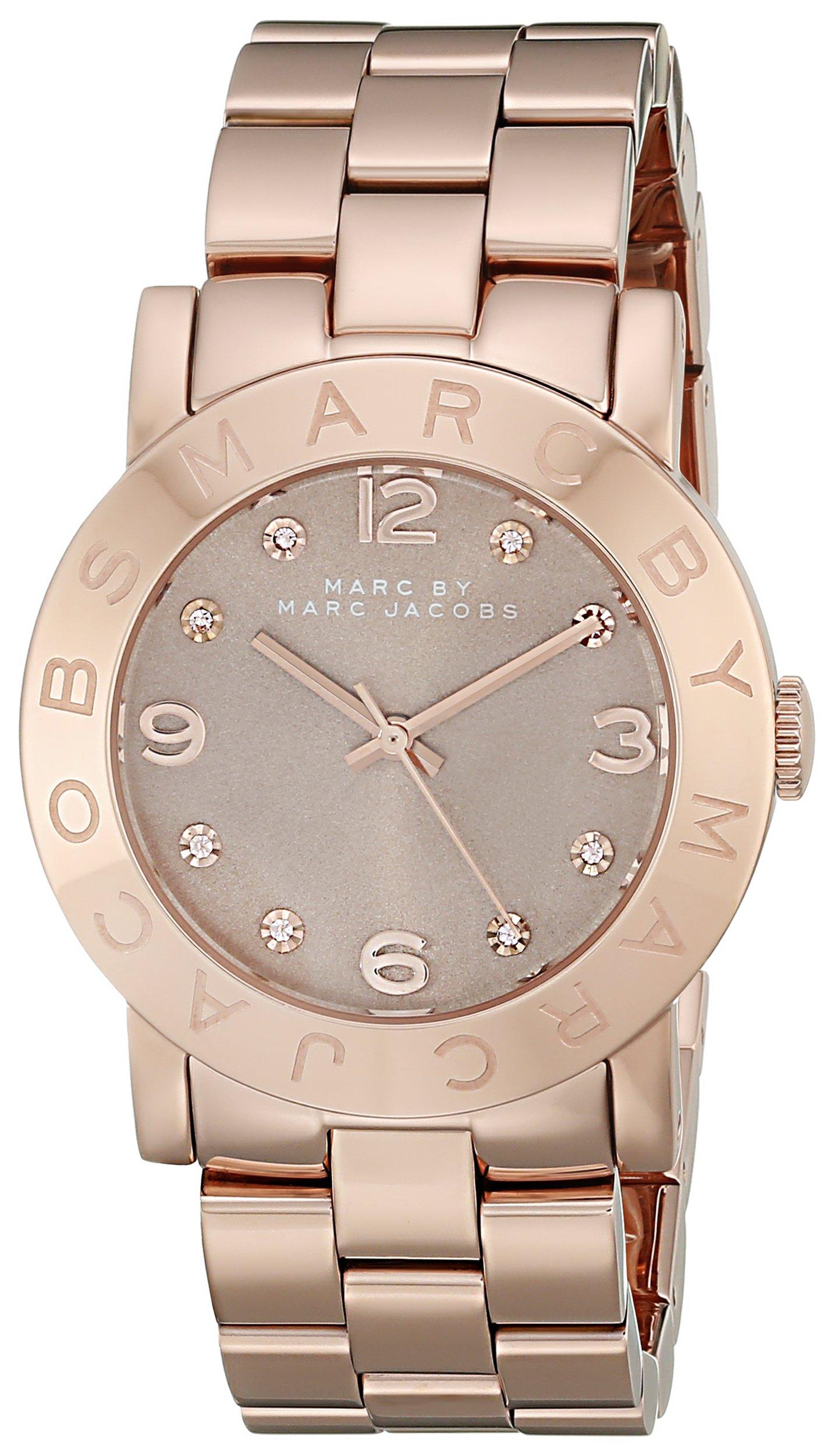 Marc by Marc Jacobs Women's MBM3221 Analog Display Analog Quartz Rose Gold Watch