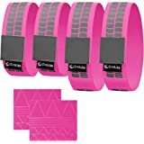Premium EvoLike Reflective Wristbands / Belt / Armbands / Ankle Bands ( 4 pack / 2 Pairs + 60 pcs Free Reflection Stickers Included )