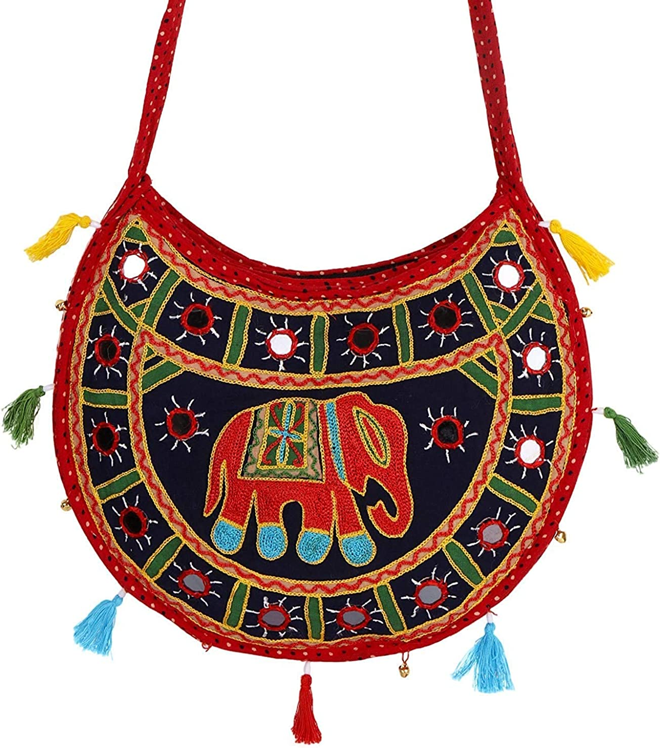Lonika Collections Sac /à main en coton pour femme