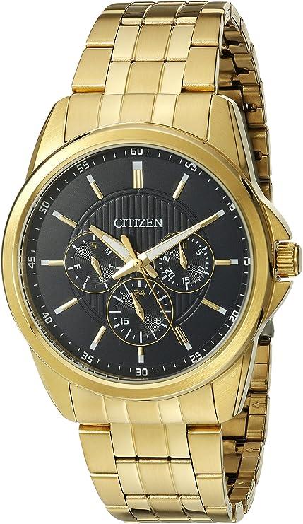 [シチズン]Citizen 腕時計 Quartz Gold Tone Multifunction Blue Dial AG8342-52L メンズ [逆輸入]