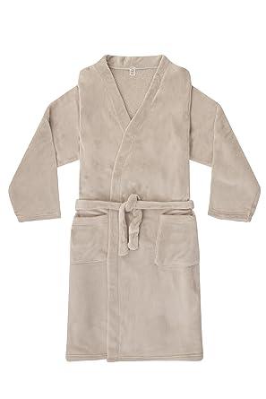 Men\'s Ex M & S Dressing Gown Fleece Light Grey (Medium): Amazon.co ...