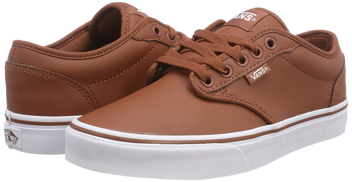 Vans Men s Atwood Synthetic Leather Low-top Sneakers Brown ((Classic Tumble)  Sequoia White U0o) 13 U  Buy Online at Low Prices in India - Amazon.in 618acf97f