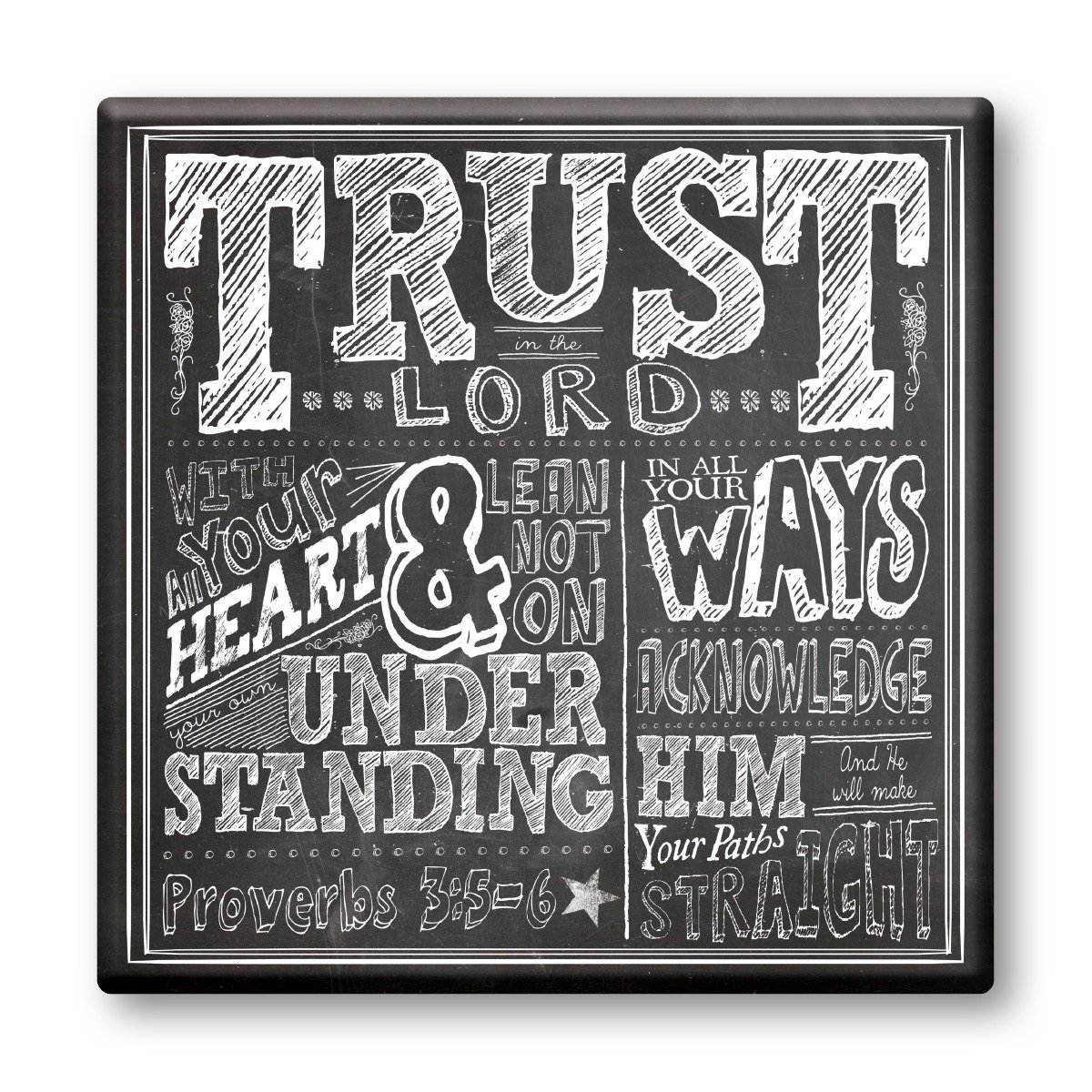 Trust, Stretched Canvas Art 12x12