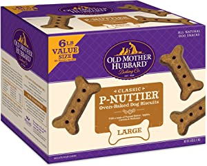 Old Mother Hubbard Classic P-Nuttier Biscuits Baked Dog Treats, Large, 20 Pound Box