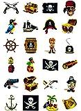 Piraten Tattoo Set 48 Kindertattoos - verschiedene Piraten Motive Kinder Spielen