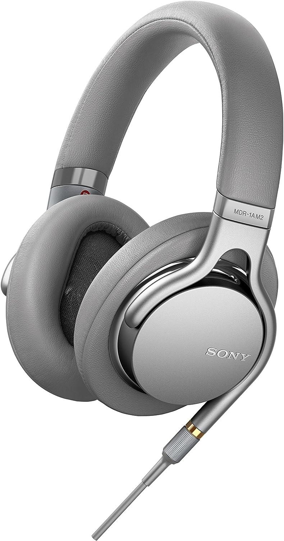 Sony MDR-1AM2S - Auriculares de alta resolución (Hi-Res, NFC, controladores de HD LCP de 40 mm), color plata: Amazon.es: Electrónica