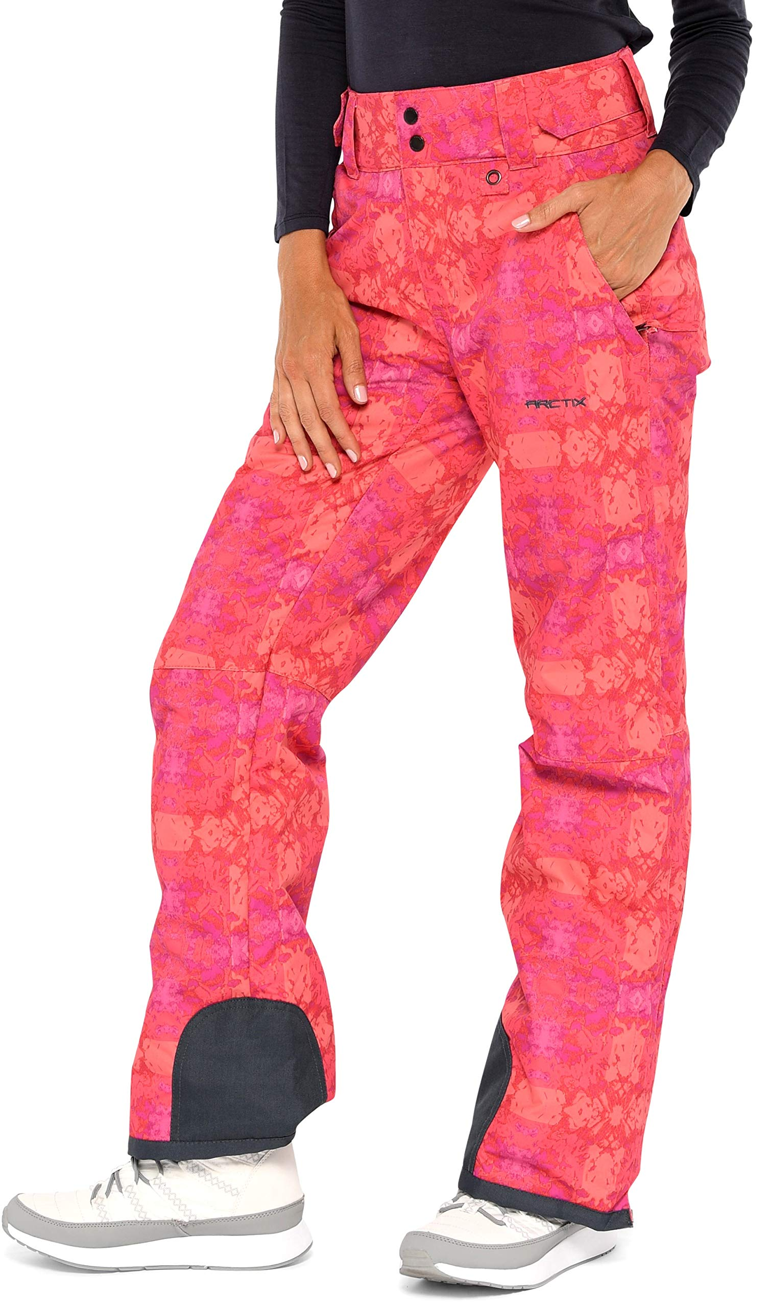 Arctix Women's Insulated Snow Pants, Summit Print Red, Medium/Regular by Arctix